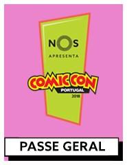 COMIC CON Portugal 2018 | Passe Geral (4 dias)