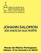 """Recital OCCO – """"Johann Salomon - 200 anos da sua morte"""""""