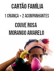 CARTÃO FAMILÍA COUVE ROSA MORANGO...