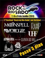 Rock no Rio Sado - Passe 3 dias - 2013