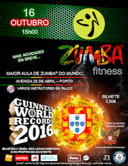 Guinness WORLD Records  A  Maior Aula de ZUMBA