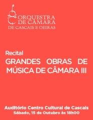 Recital GRANDES OBRAS DE MÚSICA DE CÂMARA III – OCCO