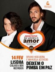 Deixem o Pimba em Paz, Bruno Nogueira e Manuela Azevedo, no Coliseu de Lisboa, Dia dos Namorados (Data, Preços e Informações)