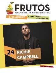 Feira dos Frutos 2017 - Dia 24/08 - Richie Campbell