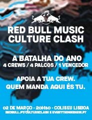 BILHETE PLUS - RED BULL MUSIC CULTURE CLASH