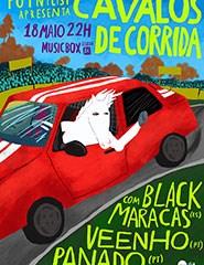 Cavalos de Corrida com BLACK MARACAS (ES), VEENHO (PT) e PANADO (PT)