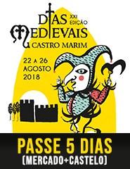 Dias Medievais em Castro Marim 2018 | Passe 5 dias (Mercado + Castelo)