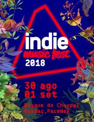 INDIE MUSIC FEST 2018 - BILHETE DIÁRIO 1 SETEMBRO