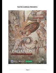 Los Ultimos Paganos - Ciclo Teatro Espanhol