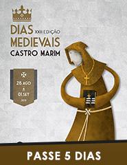 Dias Medievais em Castro Marim 2019 | Passe 5 dias (Mercado + Castelo)