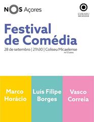 NOS Comédia com Luís Filipe Borges, Marco Horácio e Vasco Correia