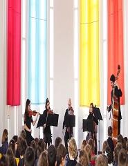 AULA CONCERTO - QUINTETO DE CORDAS FOCO MUSICAL NA SOCIEDADE CARLISTA