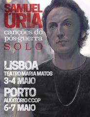"""Samuel Úria – """"Canções do Pós-Guerra-Solo"""""""
