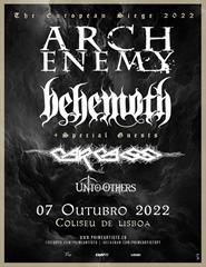Arch Enemy & Behemoth|The European Siege 2022|Carcass e Unto Others