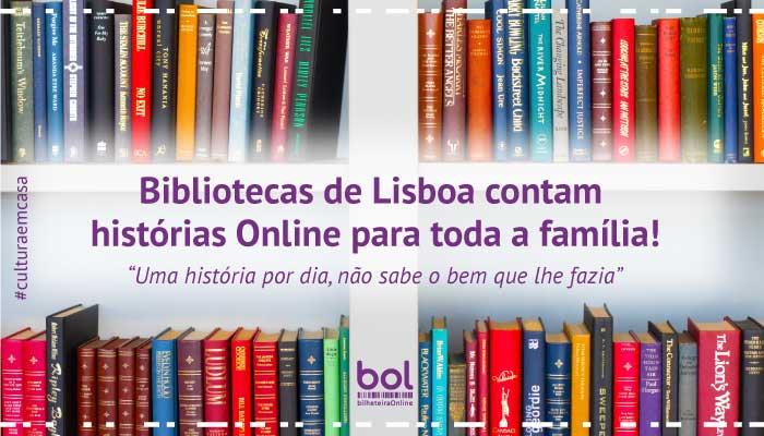 Bibliotecas de Lisboa contam histórias Online para miúdos e graúdos!