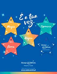 Pack 5 Estrelas de Natal Make-A-Wish